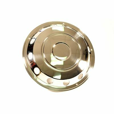 """Stainless Steel Wheel Cover Front 22.5"""" Pair Truck Lorry Wheel Trim"""
