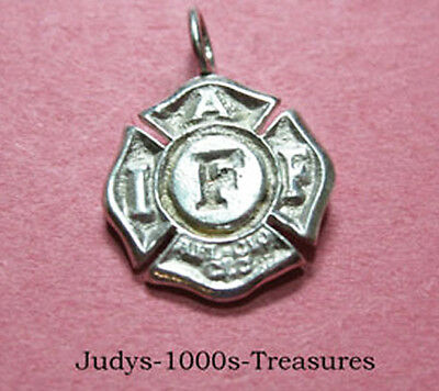 Sterling Silver Firefighters Federation Pendant Made In Usa