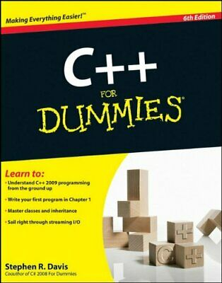 C++ For Dummies, Davis, Stephen R. Paperback Book The Cheap Fast Free Post