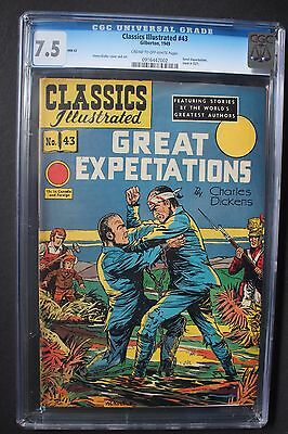 CLASSICS ILLUSTRATED #43 GREAT EXPECTATIONS Charles Dickens  Kiefer CGC VF- 7.5