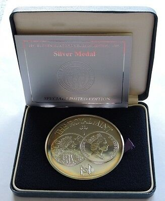 1986 Royal Mint 1100 Years In Minting Silver Medal Cased With Coa