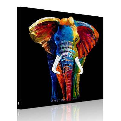 Unframed Canvas Prints Modern Decor Wall Art Picture-Big Colorful Elephant