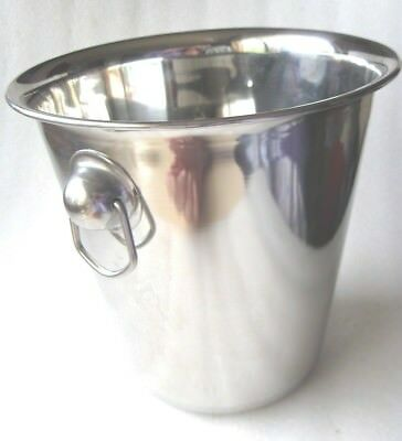 ICE  BUCKET with SIDE HANDLES SILVER CHROME  VGC