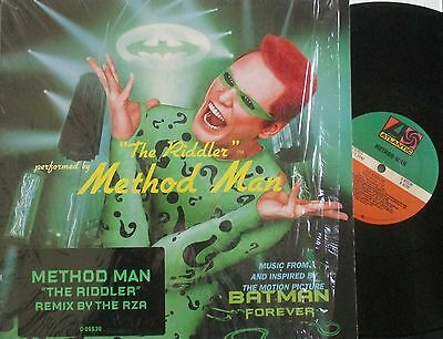 "METHOD MAN ~ The Riddler ~ 12"" Single PS - USA PRESSING"