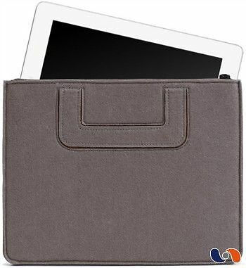 "iPad Carrying Sleeve BOSIGN – Pochette pour iPad ""Solid"" gris - Pratiqu NEUF"