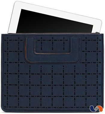 "iPad Carrying Sleeve BOSIGN – Pochette pour iPad ""Cross"" bleu marine/gris NEUF"