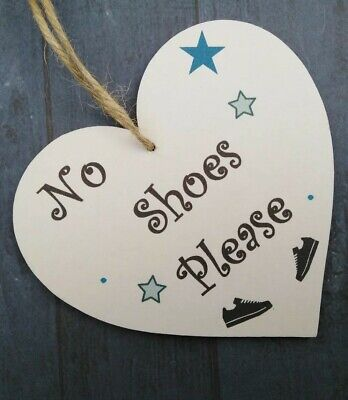 No Shoes Please B Plaque House Carpet Signs Trainers