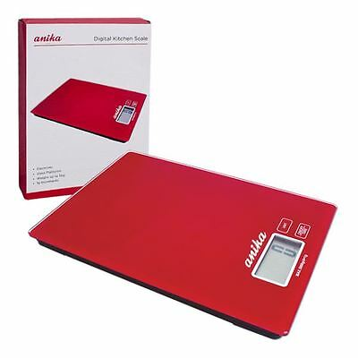 Red Digital Scale Anika Weighing Kitchen Baking Cooking Appliance Quality New