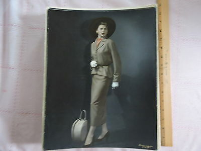 "1940s Tom Melvin original mounted 11x14"" photograph portrait SEXY MODEL Skirt"