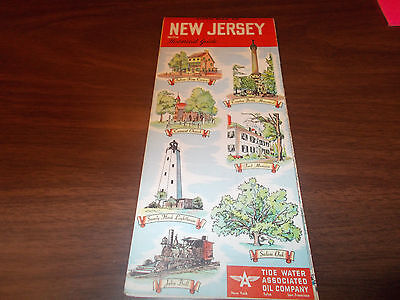 1952 Tydol/Flying A New Jersey Vintage Road Map / Great Cover