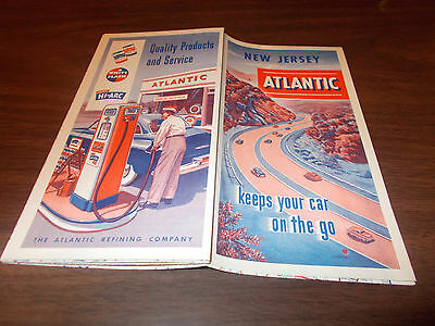 1951 Atlantic New Jersey Vintage Road Map/ Near-Mint