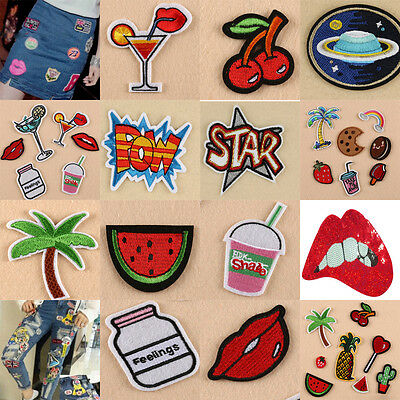 Embroidery Sew Iron On Patch Badge Bag Clothes Fabric Applique hot