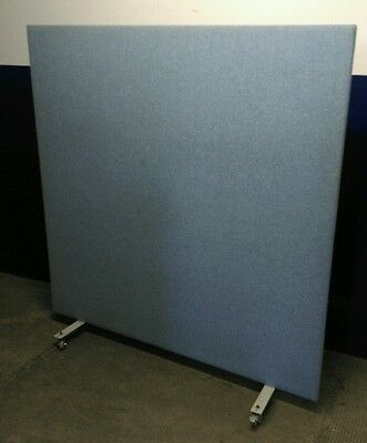 Quality Freestanding Office Screen / Partition / Divider 1600mm x 1700mm Blue
