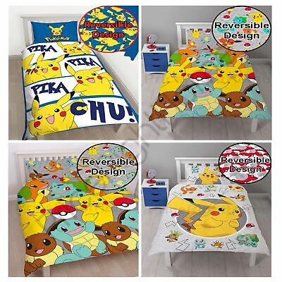 Pokemon Duvet Cover Sets Kids Bedding Single & Double Official New