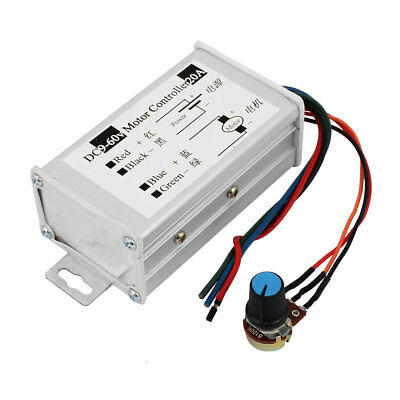 9-60V 20A 600W Pulse Width Modulator PWM DC Motor Speed Controller Switch