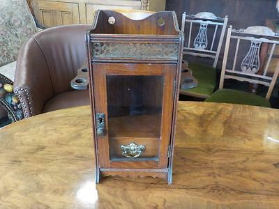 Antique Mahogany Smokers Cabinet With Draw
