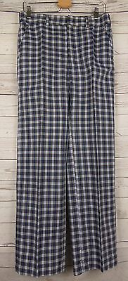 Vintage 1970s Plaid Lightweight Trousers by Haggar USA W32 L31 CO38