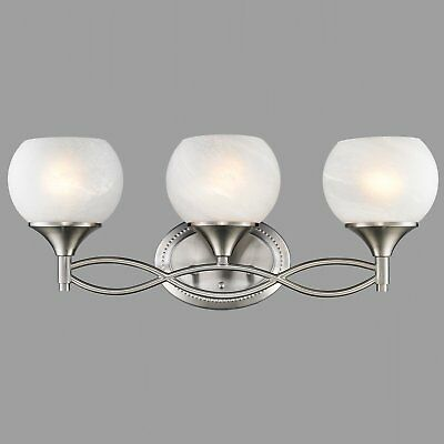 Modern 3 Lights Wall Light Fixture with Round Bowl Glass Shades Wall Lamp Sconce