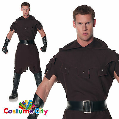 Adults Mens Medieval Enforcer Warrior Halloween Fancy Dress Stag Party Costume