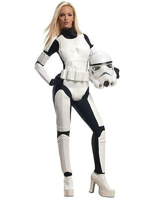 Ladies Sexy Star Wars Stormtrooper Movie Outfit Fancy Dress Costume