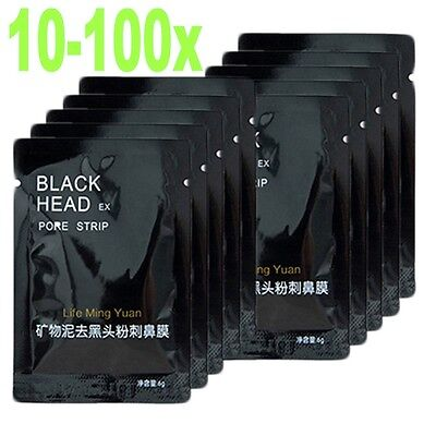 10-100stk.BLACK HEAD PEEL OFF KILLER MASKE PILATEN GESICHTSMASKE PICKEL MITESSER