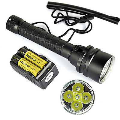 Skyray 14000Lm 5*XM-L2 LED Diving flashlight waterproof fishing hunting torch