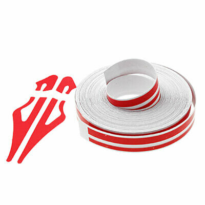 Nail Sticker Fil Bandes Striping Tape Autocollant Rouge à rayures 12 x L9800mm
