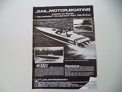 advertising Pubblicità 1980 SAIL MOTOR BOATING MIRAGE/PANTERA