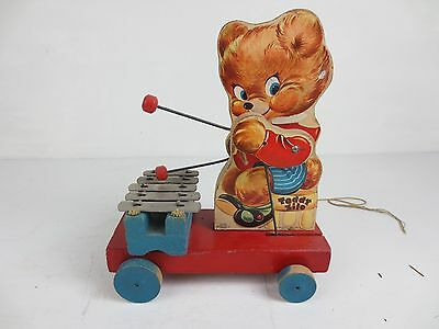 Fisher Price Toys Teddy Zilo Xylophone Pull Toy