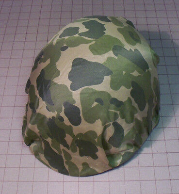 WW2 Airborne Paratrooper M1C Helmet Cover / D-Day Camouflage Parachute Material