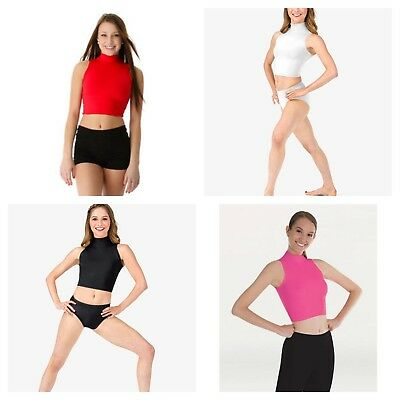 NEW Mock Dance Fashion Cheer Work Out or Costume Crop Top Child & Adult - Colors