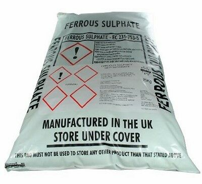 Iron Sulphate 250Kg Moss killler lawn Conditioner & Tonic Ferrous Sulphate Damp
