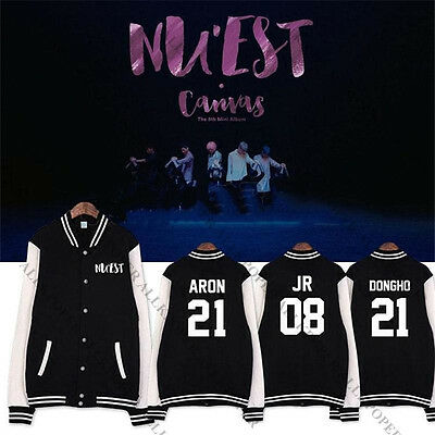 KPOP NUEST 5th Mini Album Baseball Uniform Unisex NU'EST Varsity Jacket ARON REN