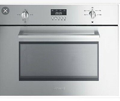 Smeg SC445MCX1  Cucina Built In Microwave With Grill  Stainless Steel New