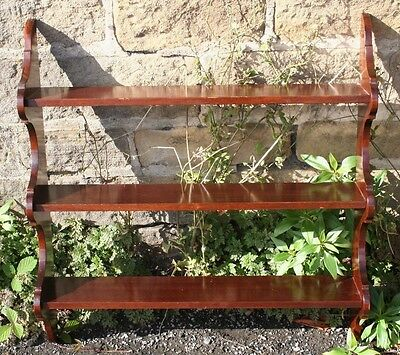 Quality ~Solid Mahogany ~Wall Rack / Shelves ~Hand Made by John More Scarborough