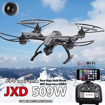 JXD509W FPV CAM 2.4Ghz 4CH RC 6-Axis Quadcopter Drone with 0.3MP HD Camera RTF R