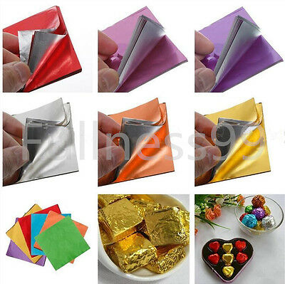"100pcs Set Square Candy Sweets Chocolate lolly Wrappers Confectionary 3"" X 3"""