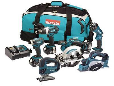 Makita DLX6001 18v 6 Piece LXT Lithium-Ion Combo Kit 3 x 3.0ah Li-ion