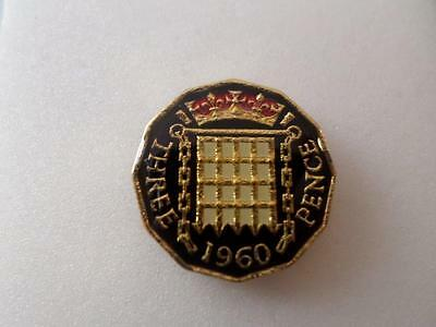 Lucky Charm Vintage Enamelled Threepence Coin Many Dates Birthday Christmas Gift