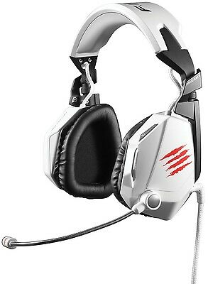 Mad Catz White F.R.E.Q 7.1 Surround Sound Gaming Headset with Detachable Mic