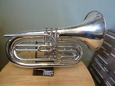 Nice King 1124SP Marching Baritone wNew Pro-Tec Case*Just Ultrasonically Cleane