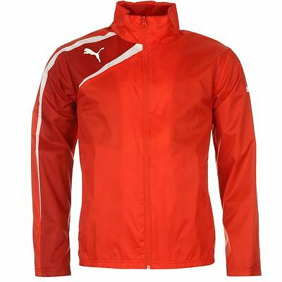 Puma Spirit Golf Shower Rain Jacket Bright Red Breathable Hidden Hood New Small