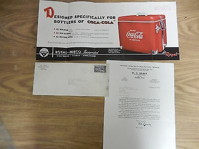Coca Cola Royal Mieco Inc The Royal Picnic Cooler Advertisement with Letter