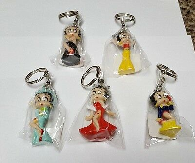 5 Betty Boop Key Chains lot