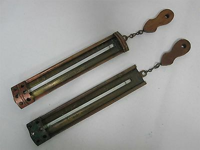 2 Vintage Taylor Home Candy Thermometers ~ Brass And Copper