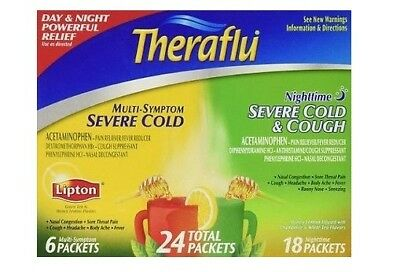 Theraflu Severe Cold Day and Night Pack 24 Packets