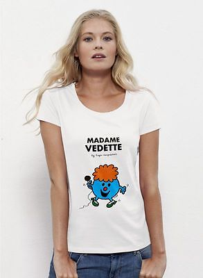 T-shirt Femme Blanc Madame Vedette taille S [S] - m y d e s i g n  NEUF