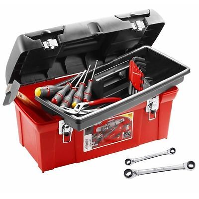 FACOM Caisse polypropylene 20 outils [rouge&noir] - CAISSE POLYPRO + 20 NEUF