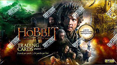 The Hobbit BATTLE OF THE FIVE ARMIES Trading cards SEALED Hobby Box Cryptozoic