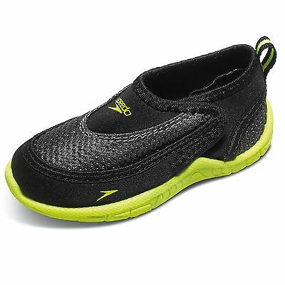 Speedo Toddler Surfwalker Pro 2.0 Swimming Water Shoes, Size 10/11, Black/Yellow